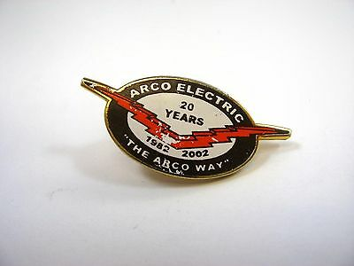 Collectible Pin: Arco Electric 20 Years 1982-2002 The Arco Way