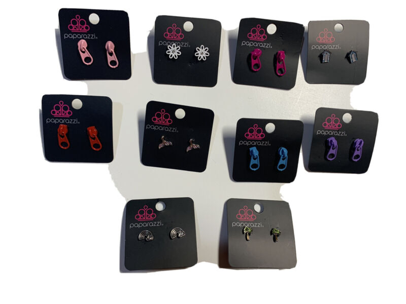 Starlet Shimmer set of 10 Earrings Paparazzi NWT Pack 3