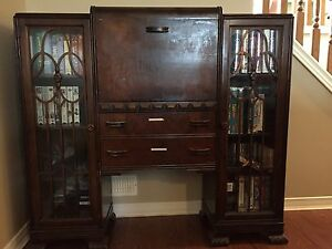 Solid wood antique desk cabinet