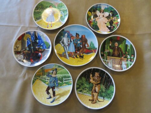 Knowles Collector Plates Wizard of Oz, Wicked Witch, Glinda, LE Lot of 7