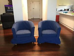 Pair of IKEA tub chairs Denistone Ryde Area Preview