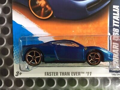 2011 Hot Wheels Faster Than Ever Series Ferrari 458 Italia - From Factory Set