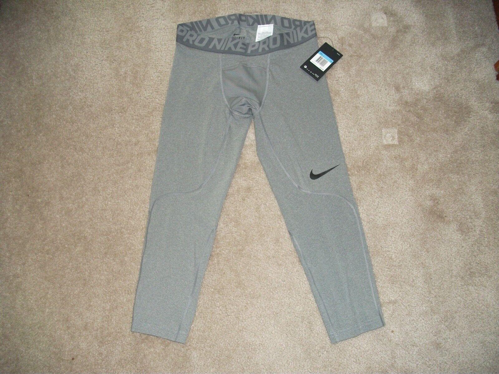 NWT Nike Pro Training 3/4 Athletic Training Pants Gray Size