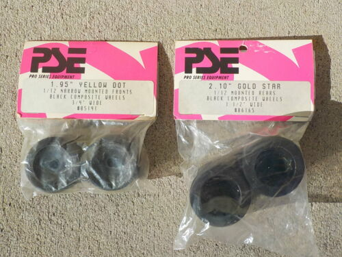 Vtg Parma PSE 1/12 Mounted Foam Tire Set for RC12L, Delta, Corally, Tamiya More
