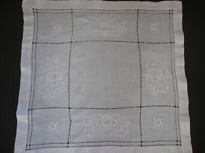 Mostly Linen Needlework 11 Small Tablecloths Shades of White