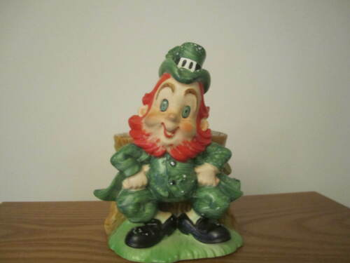 Vintage Lefton Leprechaun Figural Planter for St. Patrick