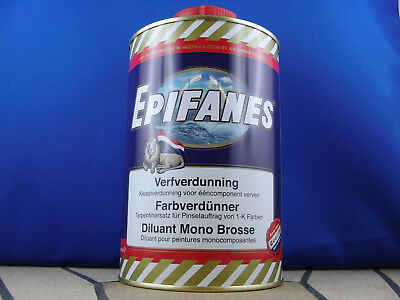 Epifanes Farbverdünner 1Liter Verdünner für 1-K Epifanes Lacke zum Pinseln