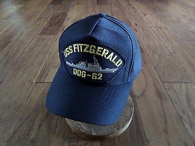USS FITZGERALD DDG-62 NAVY SHIP HAT U.S MILITARY OFFICIAL BALL CAP U.S.A MADE