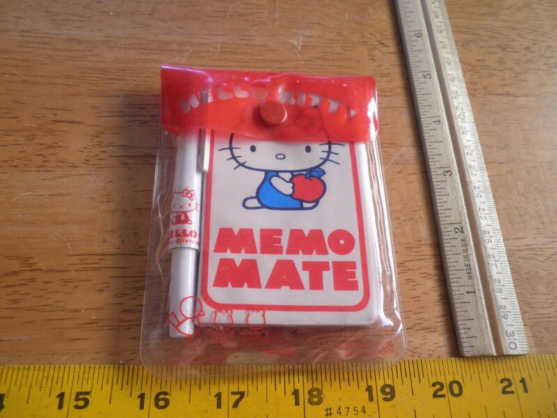 SANRIO 1976 Hello Kitty Memo Mate set with pen MIP Japan VINTAGE HTF