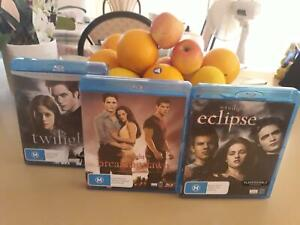 DVDs Blue- Ray Twilight series. Details below Sorrento Joondalup Area Preview