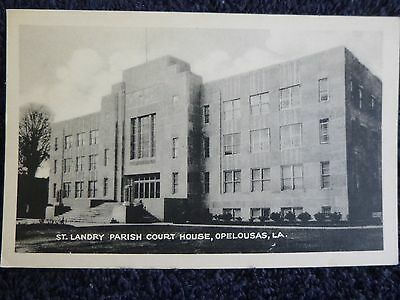 1930's The St. Landry Parish Court House in Opelousas, LA Louisiana PC