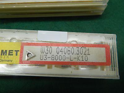 5 Komet W30 04060.3021 U3 8000 L K10 Carbide Inserts