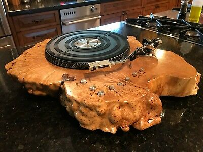 Custom Audiophile Marantz 6300 - Maple Burl Turntable