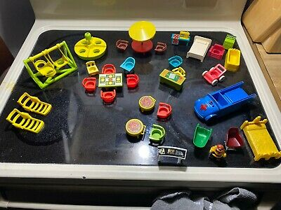Vintage Fisher Price Little People School 34 Pieces LOT Playground Equipment