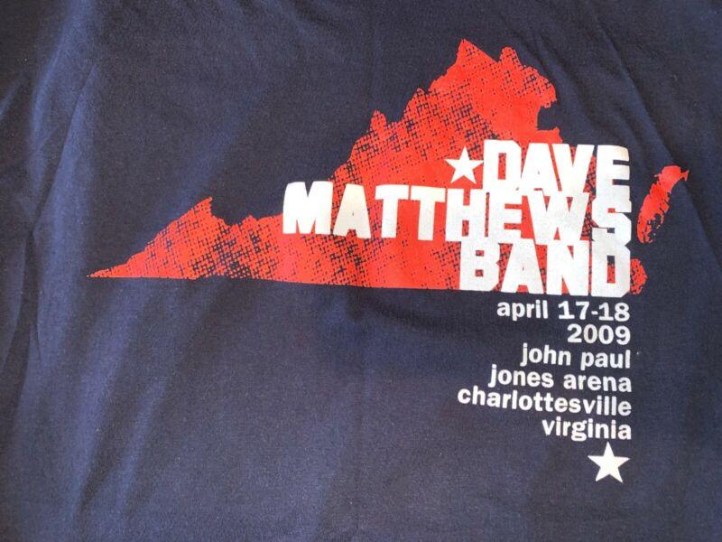 Vintage Dave Matthews Band Concert T-shirt Charlottesville 2009 XL