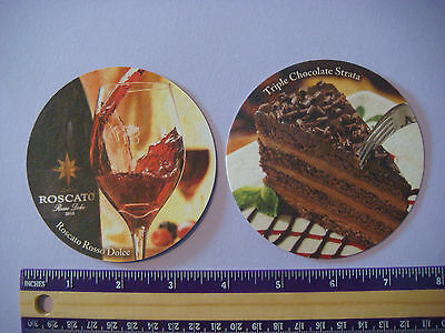Bar Triple Chocolate (Beer Bar Coaster ~**~ Olive Garden Triple Chocolate Strata ~ Roscato Rosso Dolce)