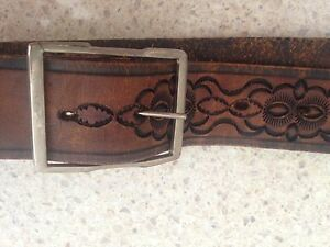 Belt leather hand carved boho style Warners Bay Lake Macquarie Area Preview