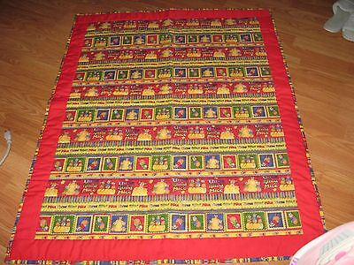 New Handmade Baby Quilt Blanket Coverlet Bedspread Three Blind Mice Colorful