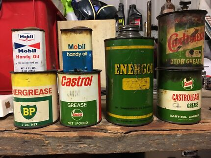 Vintage oil & handy oilers can Tins x 7