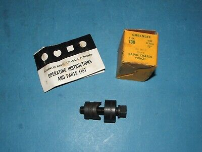 78 Inch Round Greenlee Sheet Metal Punch 730 Nos Chassis Punch  Look