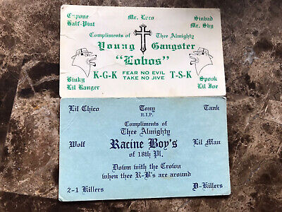 2 Original Chicago gang cards- Pilsen