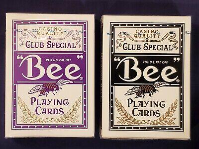 2 Bee Mindplay Bally Casino Decks Purple & Black USPC Jumbo Index Playing Cards! Index Playing Cards 2 Decks