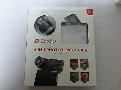 Olloclip iPhone 5 5s - 4 In 1 Lens + Quick-Flip Clear Case - Gray/Black Lens