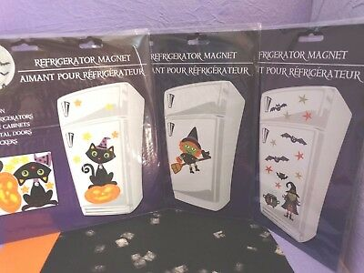Halloween Cat Witch Decoration Magnet Magnetic Door Fridge Locker Cabinet ) - Halloween Locker Decorations
