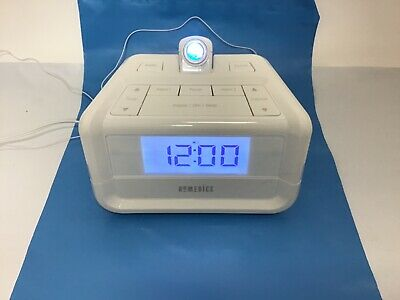 Homedics clock radio light projection soothing sounds therapy spa -