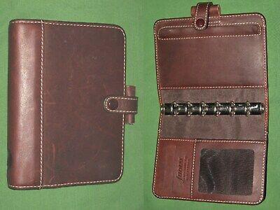 Pocket 0.5 Brown Real Leather Filofax Planner Hamilton Binder Organizer 780