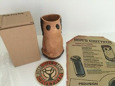 Star Wars Galaxy's Edge Porg Mug / Cup - Oga's Cantina Menu, Beer Mat / Coaster