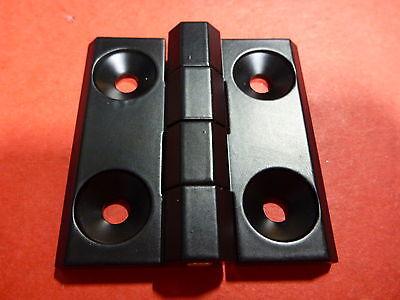 Tnutz - T-slot Steel Black Powder-coat Heavy-duty Hinge Kit - 15 Series - Hi-015