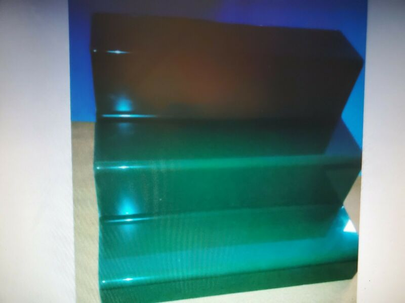 Display Riser 3 level green in color 4 psc set acrylic
