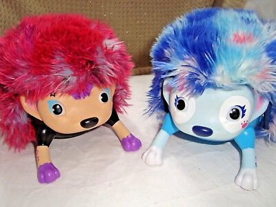 LOT OF TWO Zoomer Hedgiez Dizzy Interactive Hedgehog Kitty Cat LOT