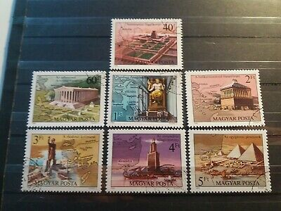 Hungary Stamps 1980 The Seven Wonders of the Ancient World. Complete Set