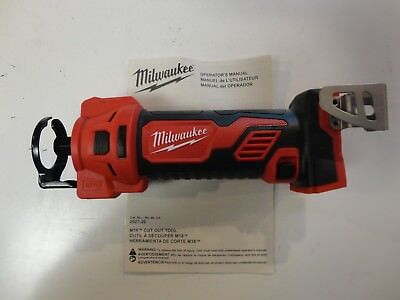 Milwaukee 2627-20 M18 18V 18 Volt Cordless Drywall Cut Out Tool W/ Bits & Coulet