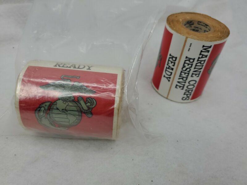 1950s Vintage Military USMC US Marines Reserve Topflight Adhesive Stickers Tape