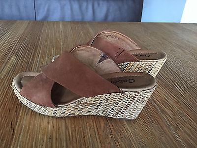 Gabor Sandalen * 5 1/2 * 38,5 * braun/mocca * Plateausandaletten Damen Schuhe