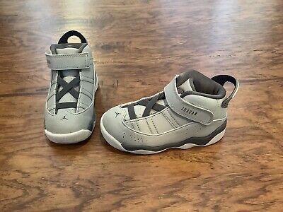 Nike Air Jordan 6 Rings Toddler size 8c Metallic Silver/graphite 323420-002