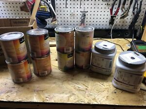 Benjamin Moore Paint testers - Grey's and Navy