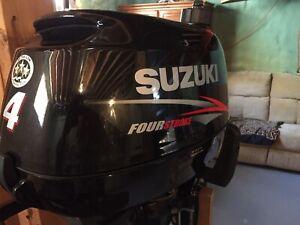 2016 Suzuki 4 Hp. Four stroke short shaft.