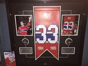 Cadre unique Patrick Roy des Canadiens de Montreal