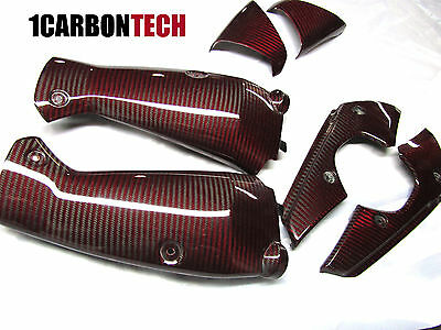 2009-2014 YAMAHA YZF R1 CARBON FIBER RED HYBRID AIR INTAKE COVER KIT 6PC for sale  Shipping to Canada
