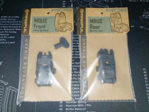 Magpul MBUS Gen 2 Front & Rear Black Back-Up Sights | Made USA | SHIPS SAME DAY