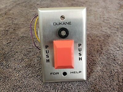 Nos Dukane Patient Station Push Button For Nurse Help Call Emergency Wall Plate