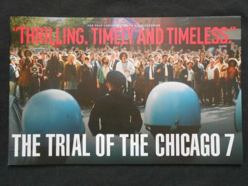 THE TRIAL OF THE CHICAGO 7 BOOKLET FYC PROMO FRANK LANGELLA, SACHA BARON COHEN