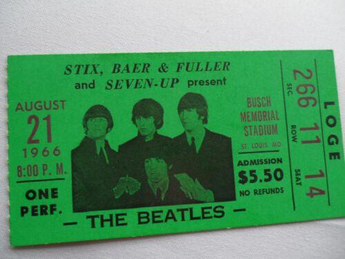 THE BEATLES 1966 Original__CONCERT TICKET STUB__St. Louis, MO__EX++
