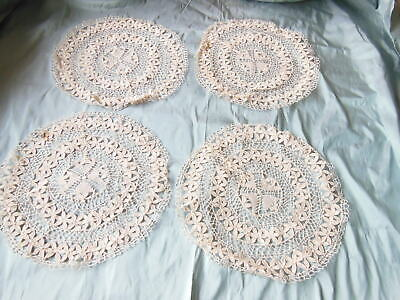 Bedfordshire lace 19th century. Beds bobbin lace antique a length A series of circles made in one piece light ecru linen