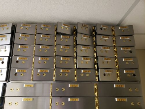 """Diebold Safe Deposit Boxes 3"""" x 5"""" x 24"""" - 30 to each section"""
