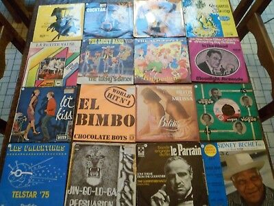 "Lot de 110 Vinyles - 7"" - SP & EP - 45 tours - Instrumental - 4 Photos - (45)"